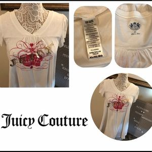 Juicy Couture Tops - Juicy Couture XL White Flutter Women's Top